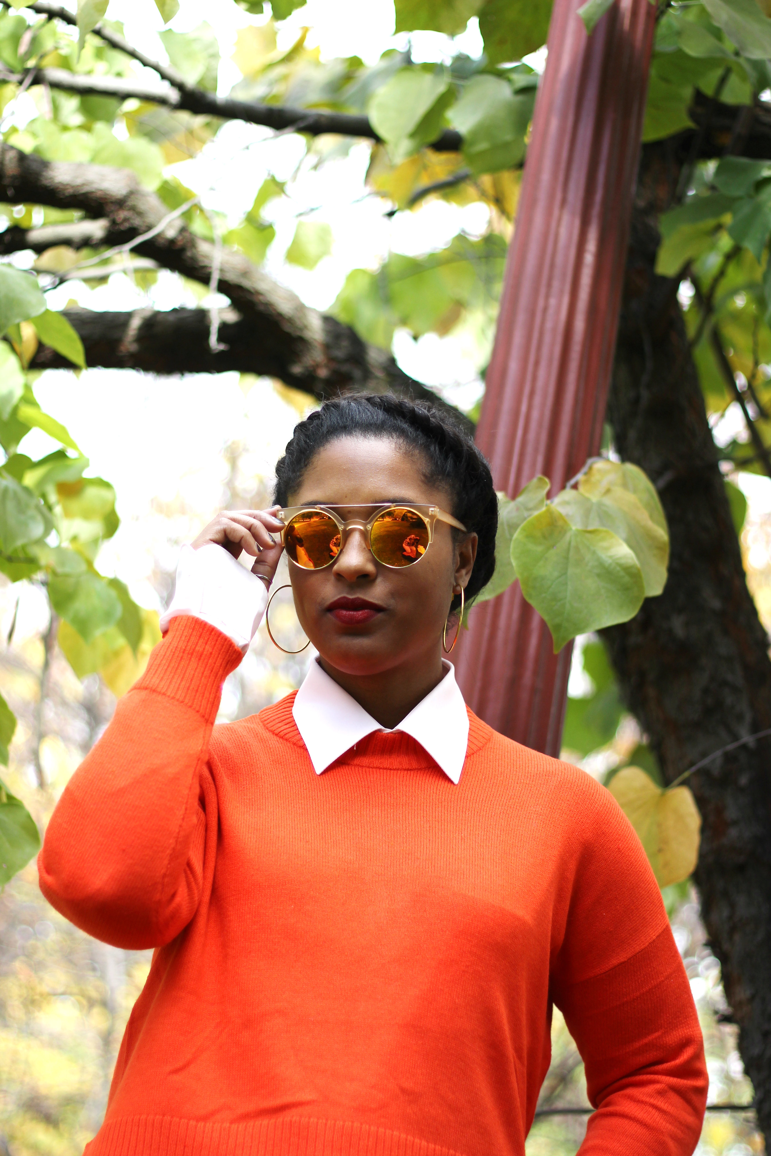 orange sweater comme coco - Cropped Sweaters