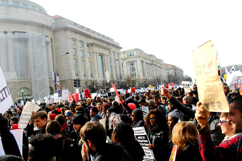DC Protest crowd- comme coco