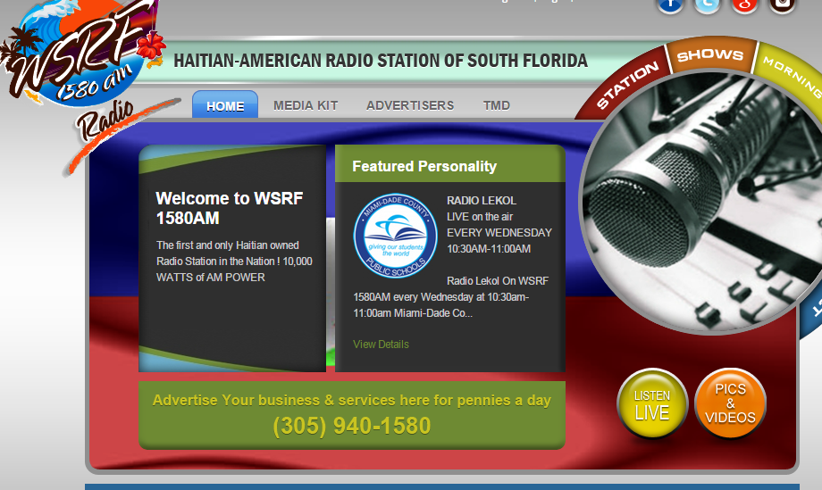 WSRF 1580AM Haitian American Radio Station of South Florida - Interview on WSRF 1580