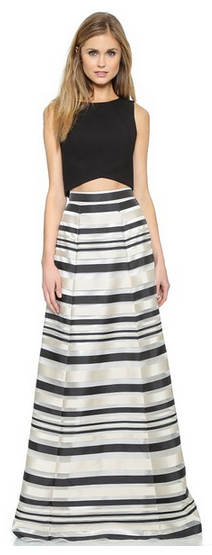 Black Halo Zaniya Two Piece Maxi Dress SHOPBOP - What to Wear as a Wedding Guest