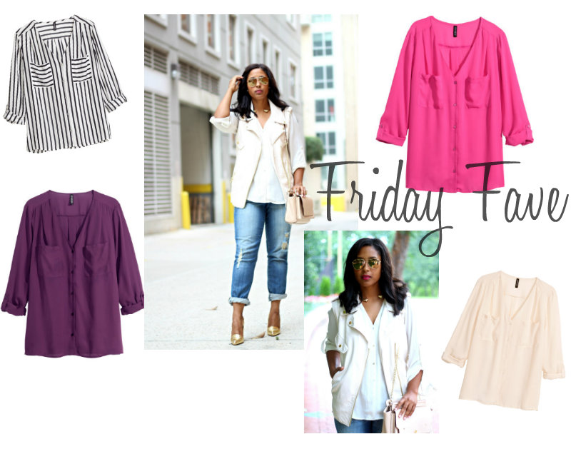 Friday Fave HM V Neck Shirt - Friday Fave: H&M V-Neck Shirt
