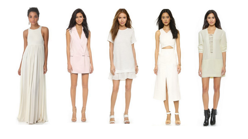 white dresses shop bop comme coco - Spring/Summer Wardrobe Must Haves