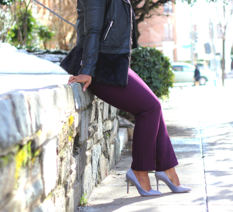 how to style patterned pumps
