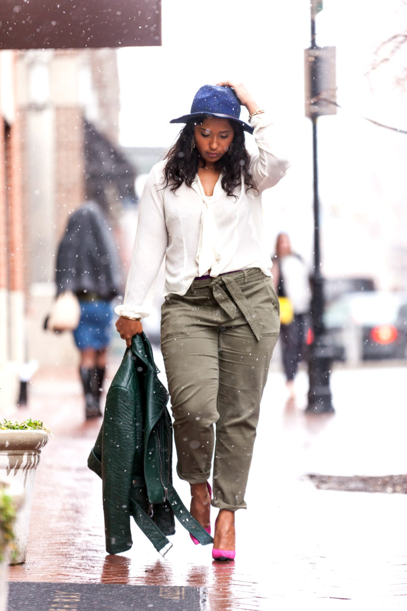 how to style Loft Julie Trousers