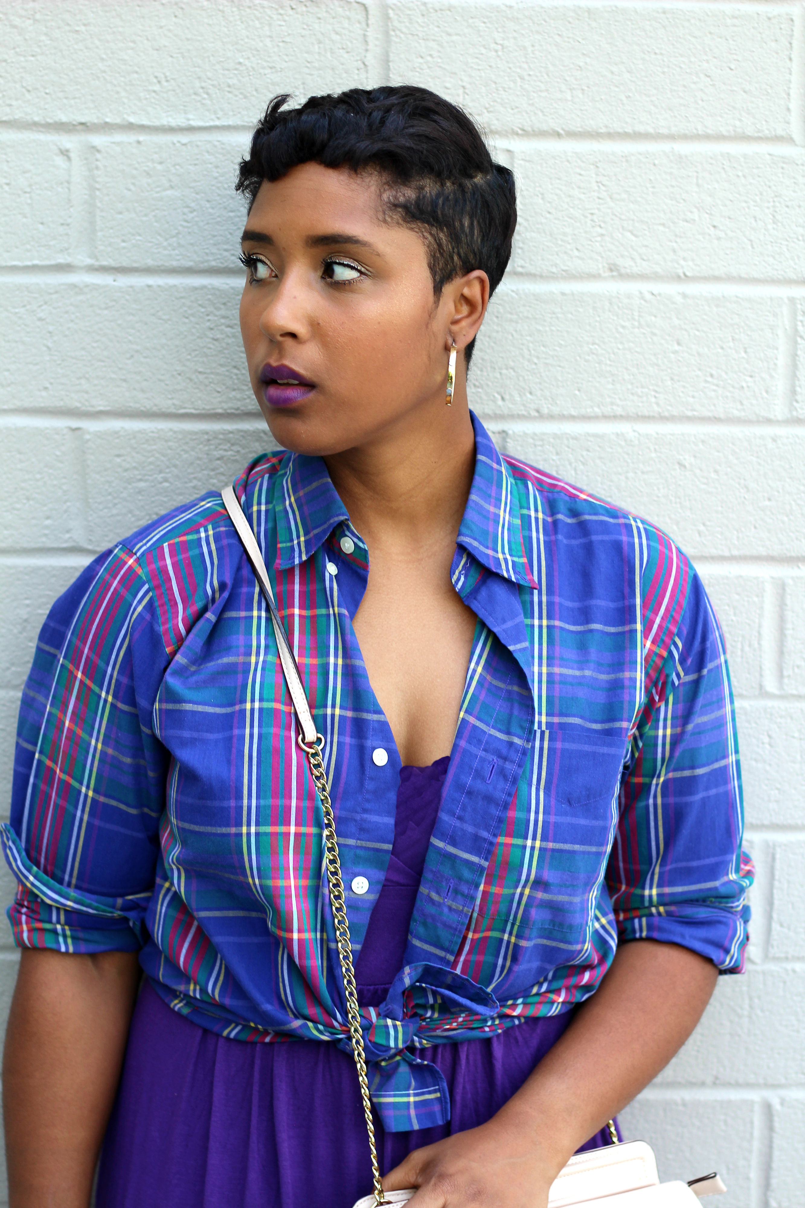 plaid shirt as a summer cover up  - Baby News and Fertility Issues