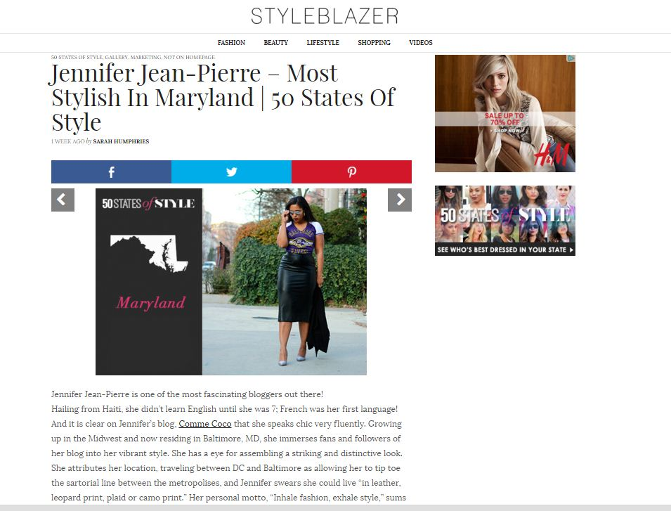 style blazer 50 states of style - Most Stylish in Maryland