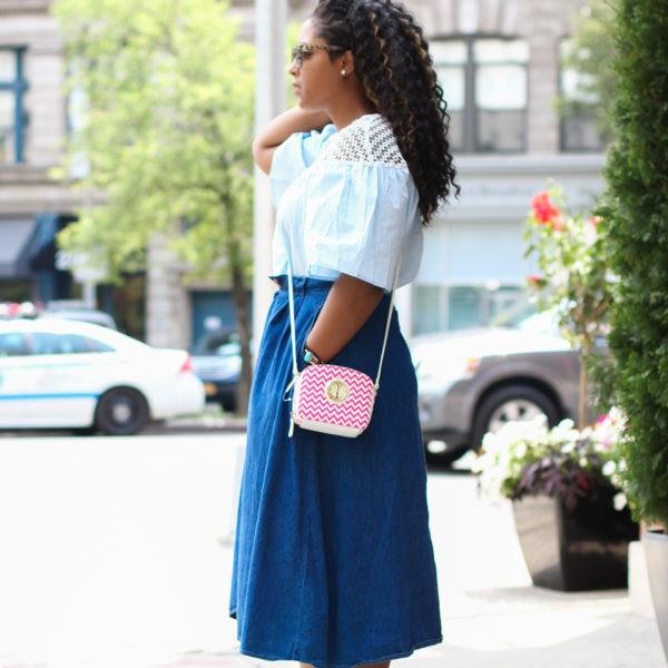 nyc street style 5 600x600 - Denim Skirt