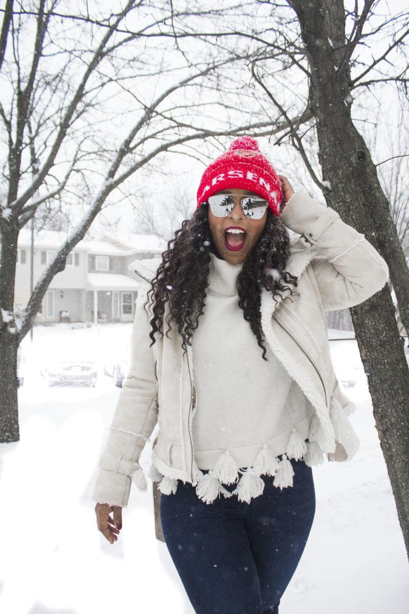 snow day style self portrait