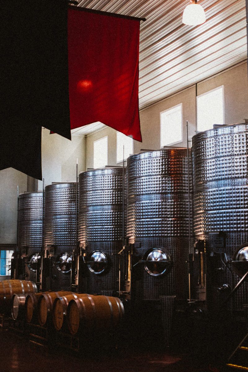 barrels at breaux winery in virginia top dc blogger 800x1200 - Reston Limo at Virginia Vineyards