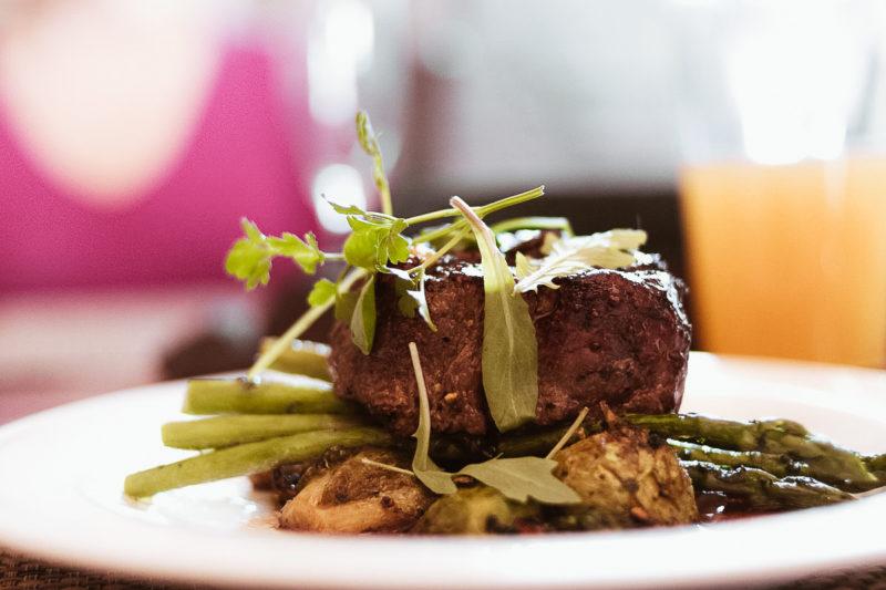 filet mignon at grandale restaurant at 868 vineyards 800x533 - Reston Limo at Virginia Vineyards