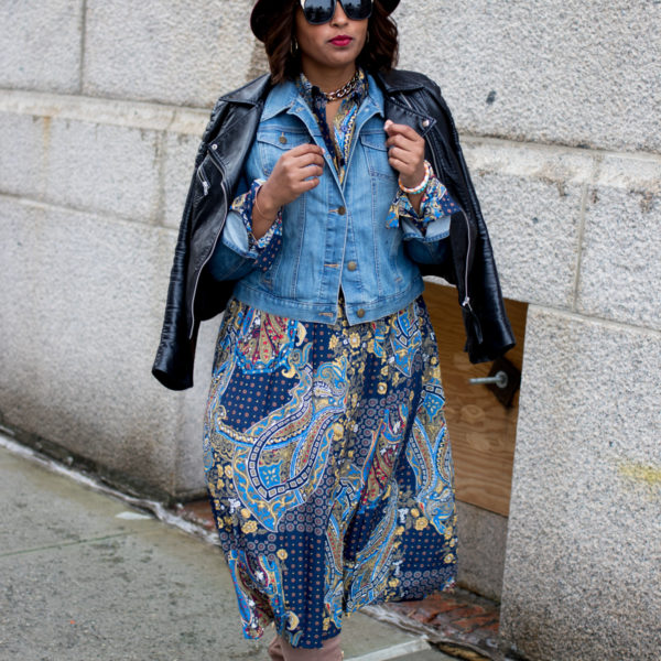 top dc blogger at nyfw print dress 2 600x600 - NYFW Outfit #2