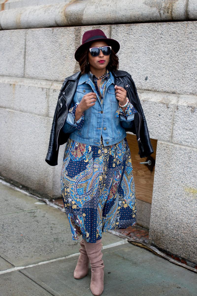 top dc blogger at nyfw print dress 2 800x1200 - NYFW Outfit #2