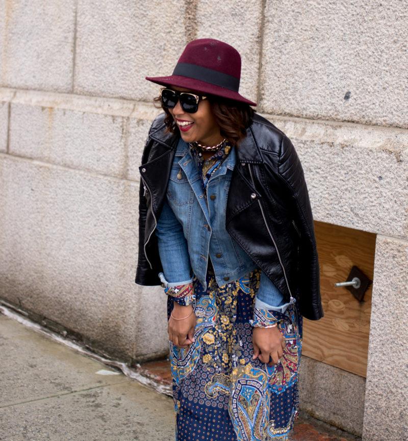 top dc blogger at nyfw print dress 800x865 - NYFW Outfit #2