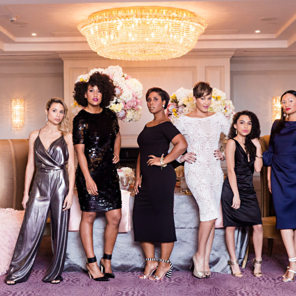 top dc blogger models in bachelorette type dinner party shoot for andrew roby events
