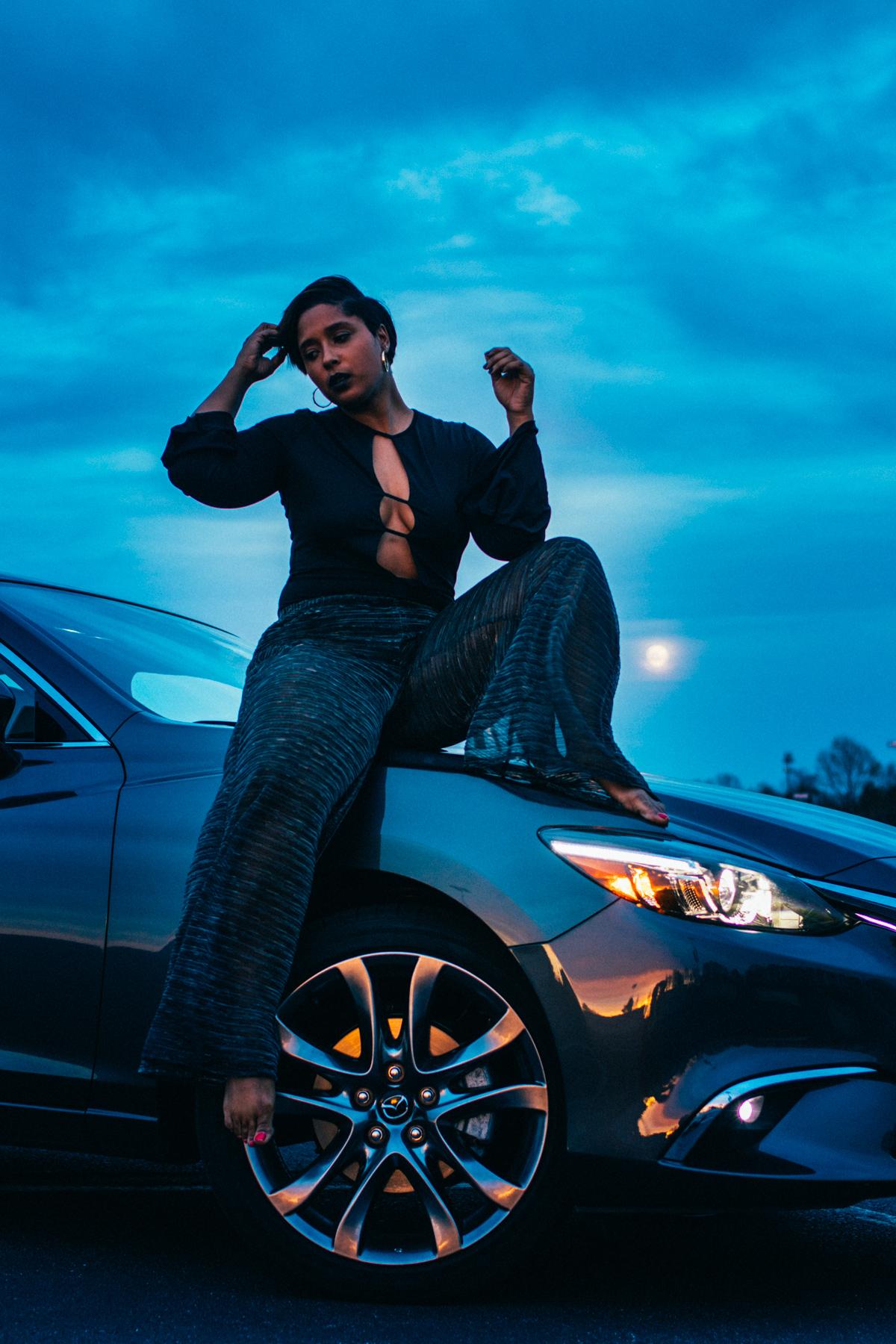 top dc blogger wearing shop tobi and blake porter studio pants deep v bodysuit 5 - Drive the Mazda 6 Grand Touring