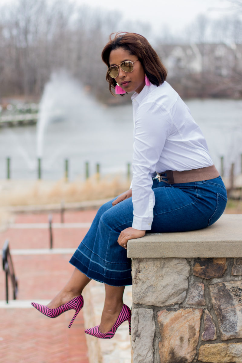 button down from j jill top dc blogger 2 800x1200 - Where I Buy My Accessories