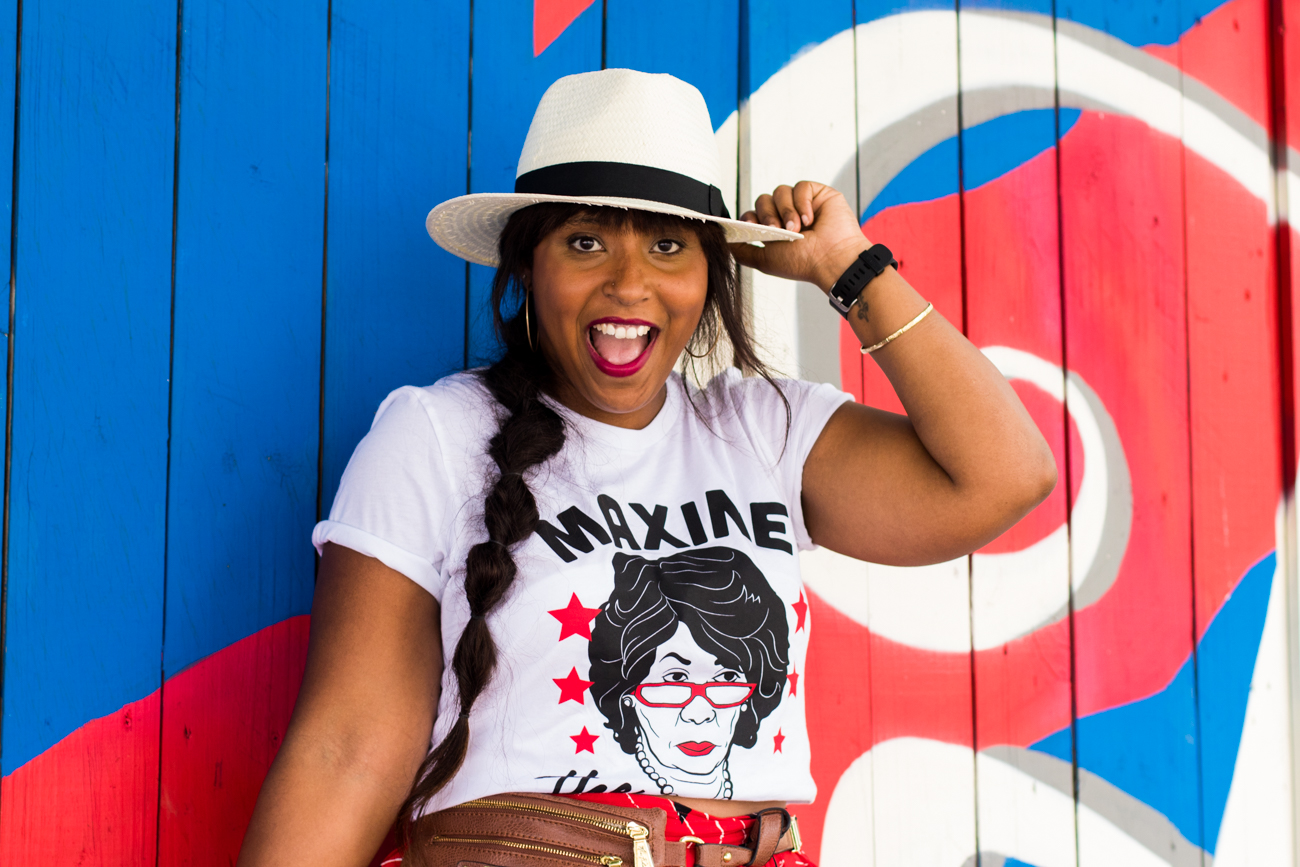 top dc blogger wearing tees in the trap maxine waters shirt