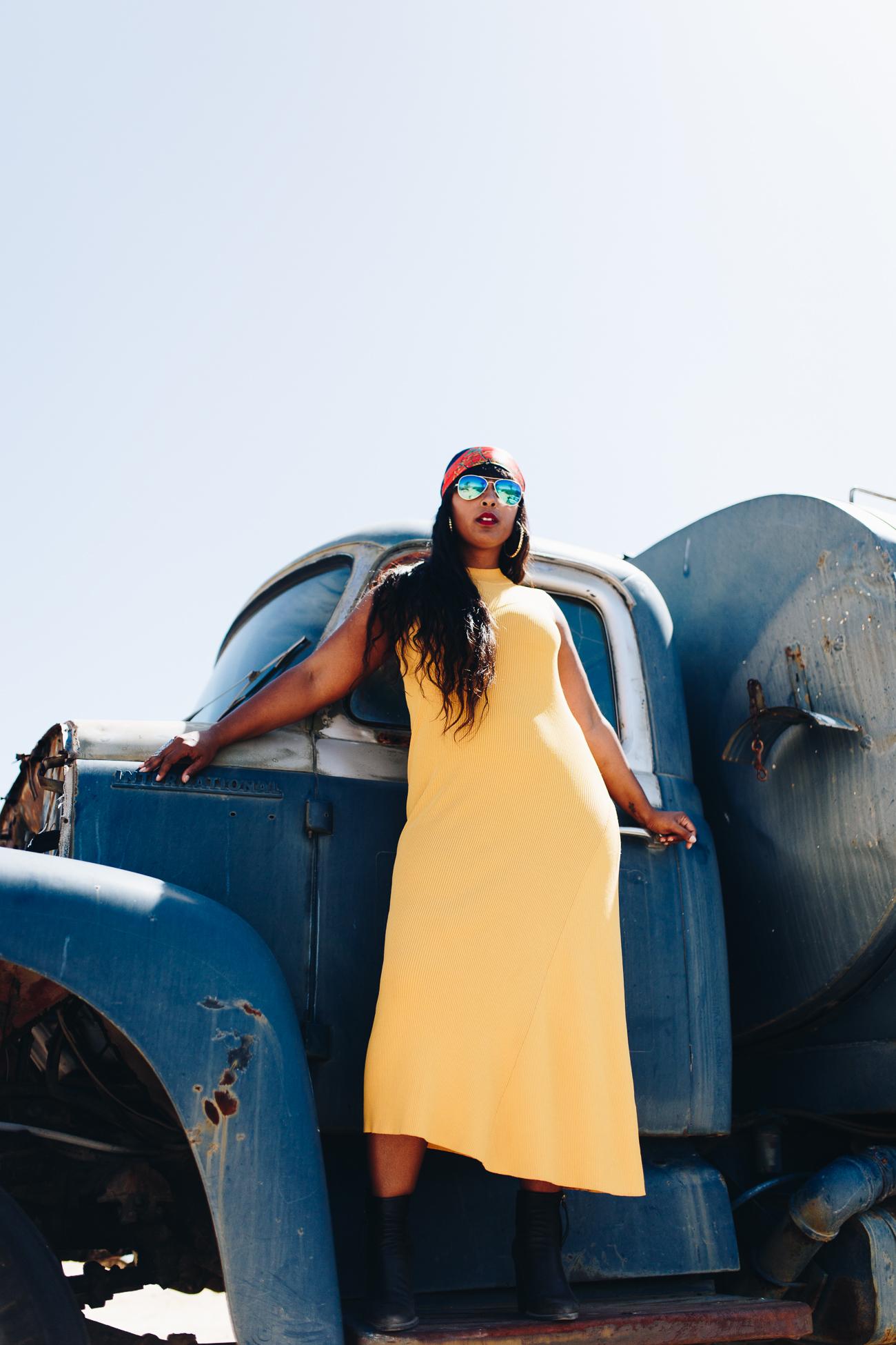 Top washington dc blogger and creative director in california desert shoot