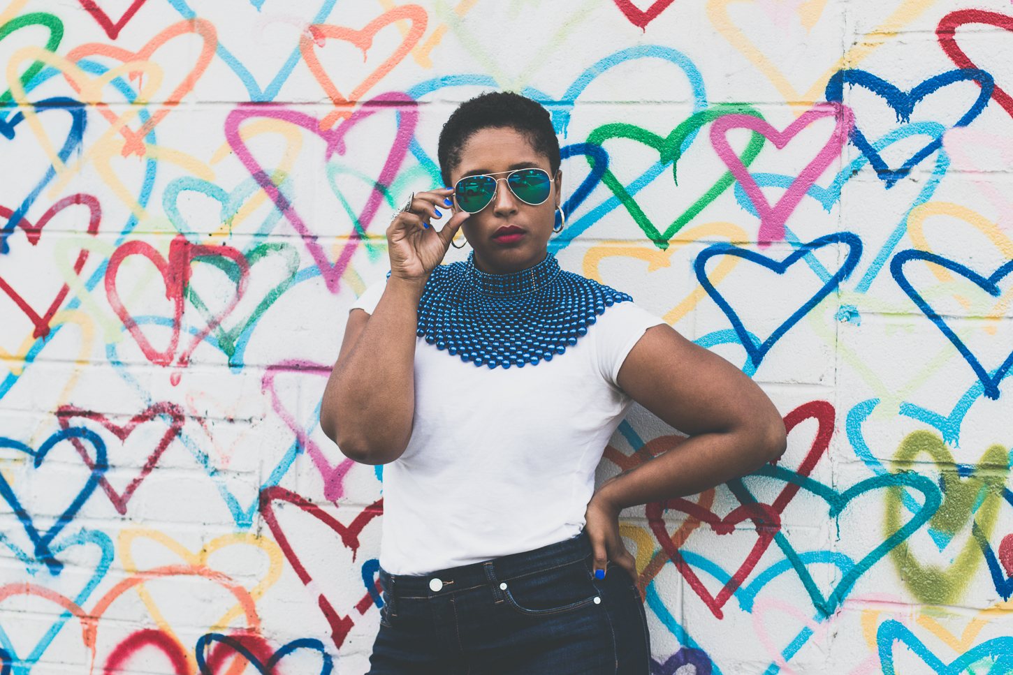 top dc blogger 3 - How to style a blue collar necklace