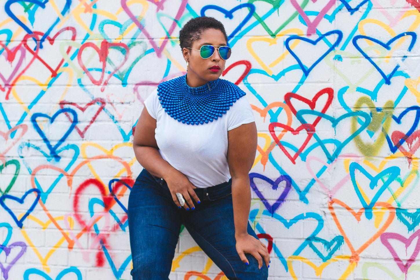 top dc blogger 5 1 - How to style a blue collar necklace