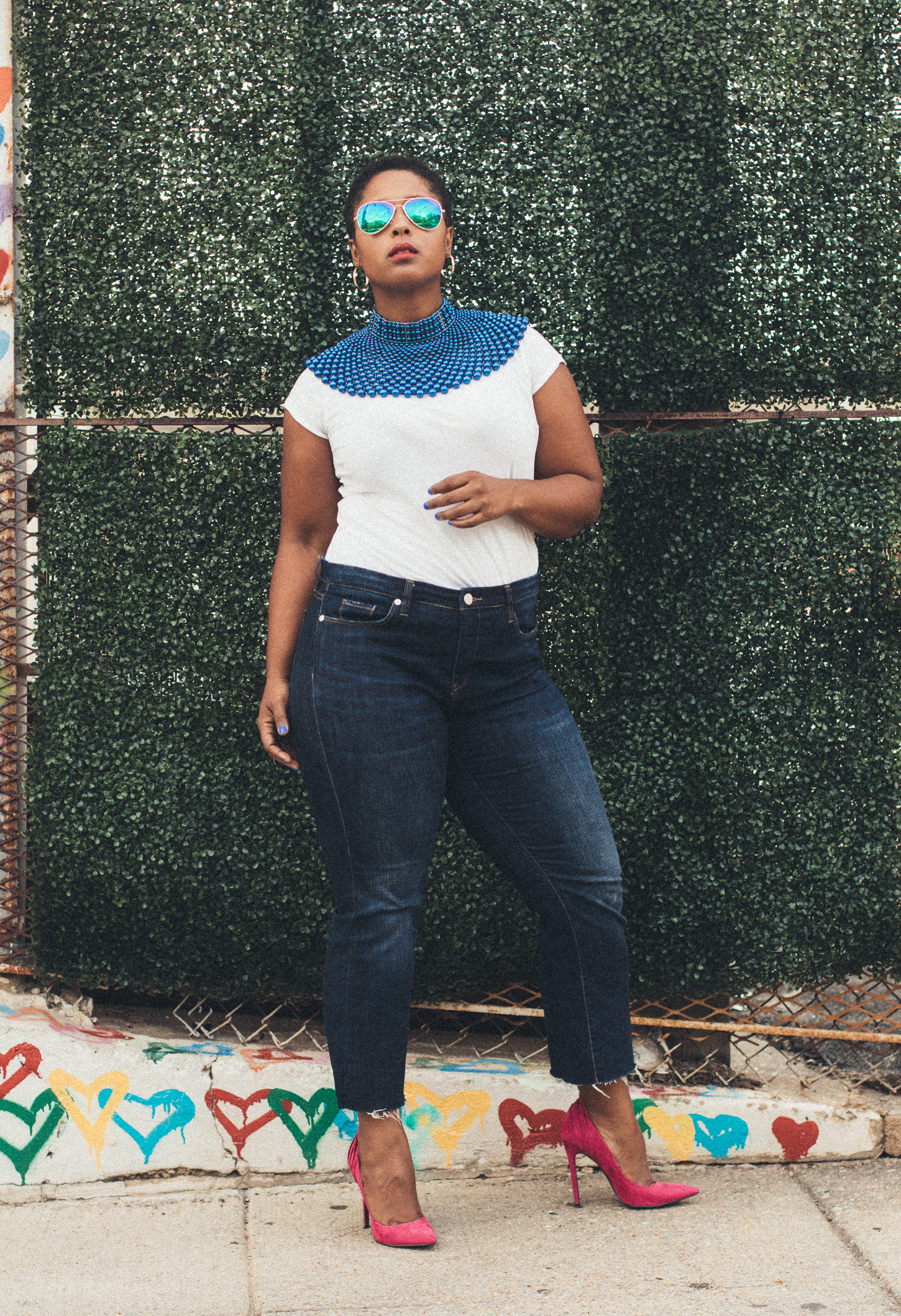 Top washington dc blogger accessorizes with statement necklace