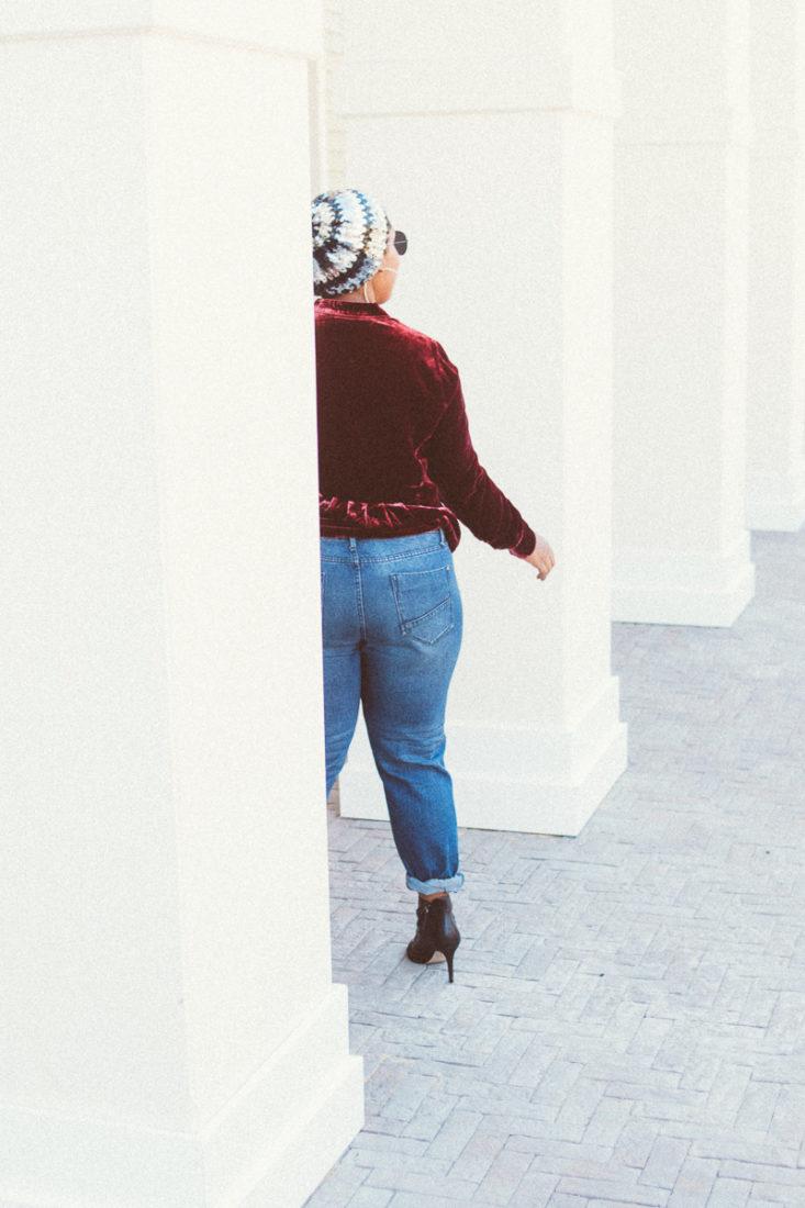 top dc blogger wearing velvet trend j. jill