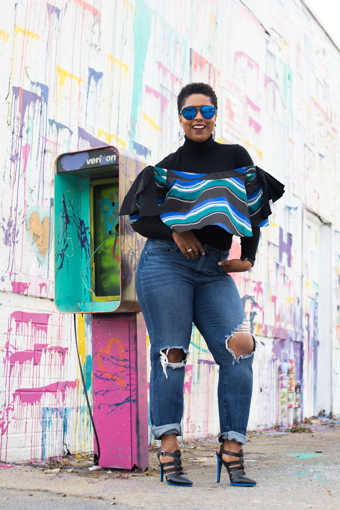top dc bloger jen jean-pierre showing how to style a turtleneck