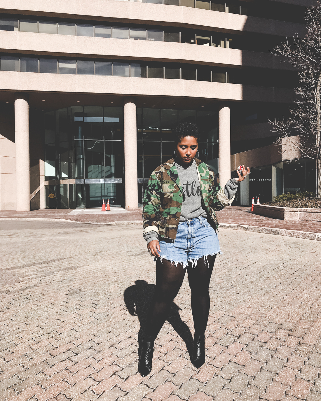 weekend style from top blogger denim shorts winter outfit 13 - Weekend Tings